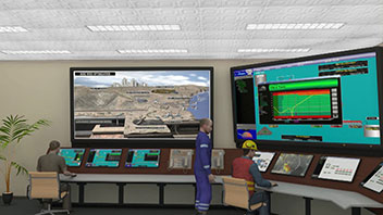 Ball Mill Grinder - Control Room